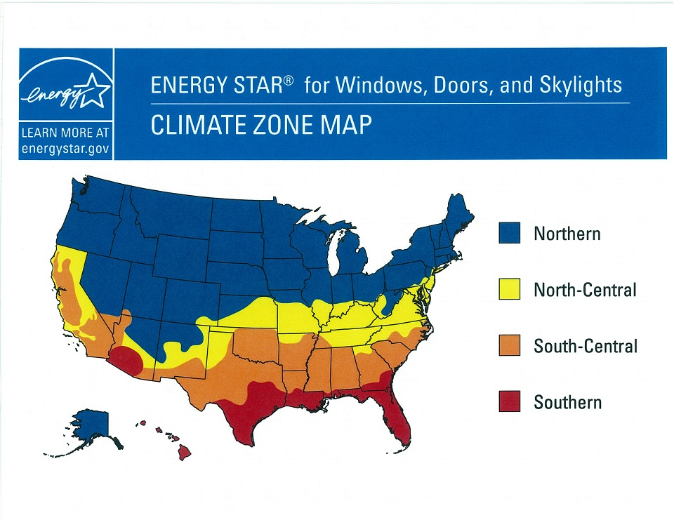 Energy Star climate zone map.