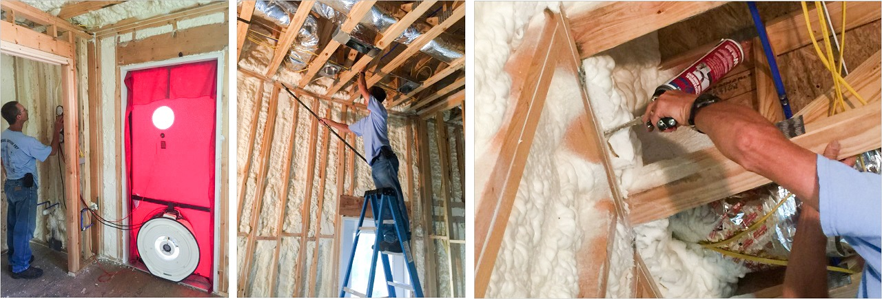Your Stitt home is tested after insulation is installed to locate and seal any air leaks before they're covered with finish materials.
