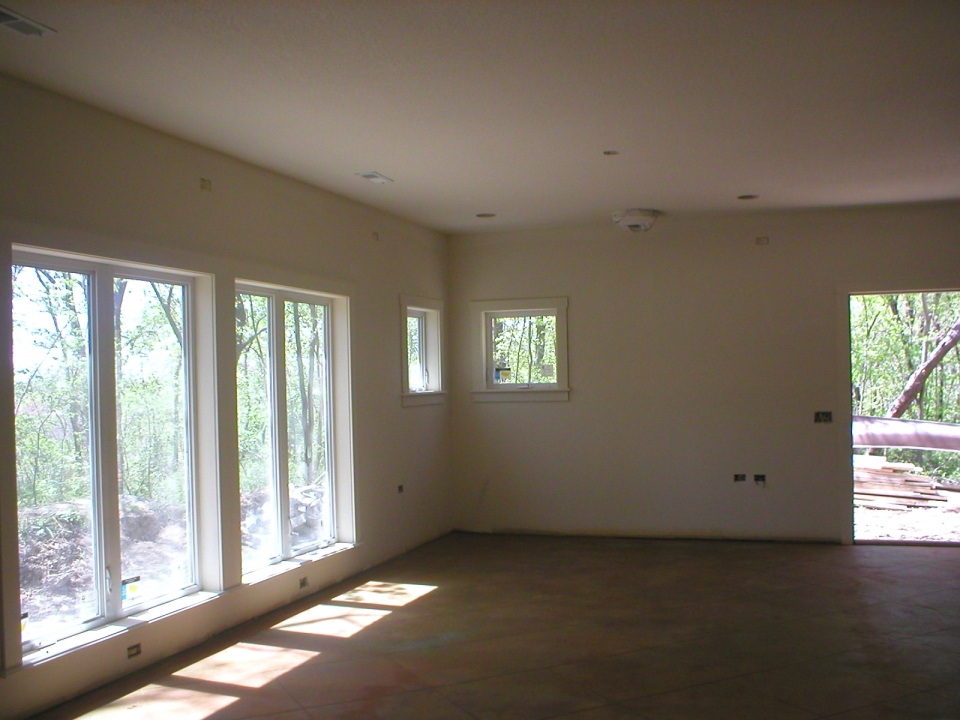 The interior is beginning to look like someone could live here!