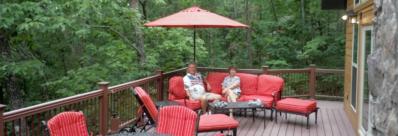 Enjoy outdoor living on decks, patios and porches!