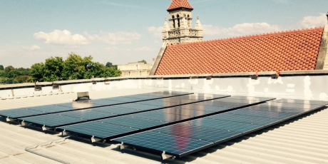 Solar installation on Fort Smith, AR building