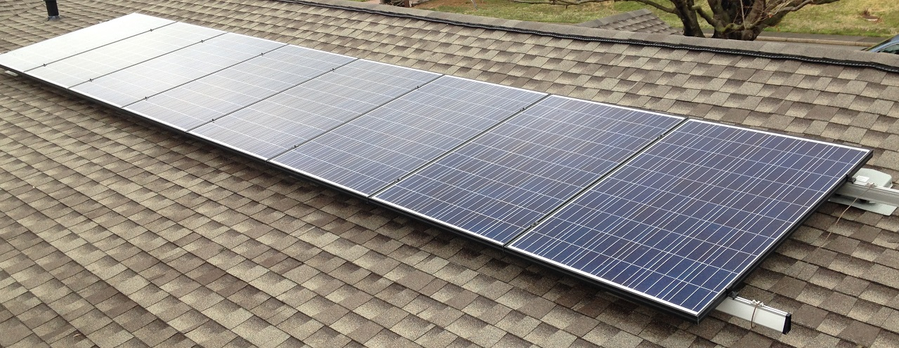 2kW Solar electric system consists of Canadian Solar modules and Enphase microinverters.